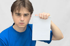 Man with empty agenda Royalty Free Stock Photos