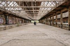 Man in empty building