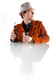 Man with empty glass Royalty Free Stock Photography
