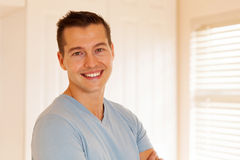 Man in empty house Stock Image