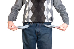 Man with empty pockets Stock Photo