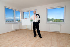 Man in empty room Royalty Free Stock Photo