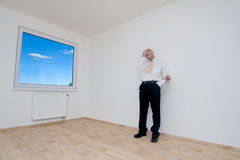 Man in empty room Stock Photography