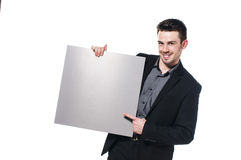 Man with empty sign Stock Images