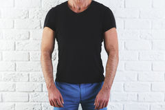 Man in empty t-shirt Royalty Free Stock Image