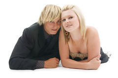 Man en vrouw. Royalty-vrije Stock Foto's