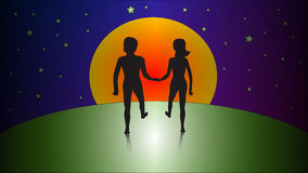 Man en vrouw royalty-vrije illustratie