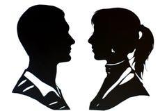 Man en vrouw royalty-vrije stock foto's