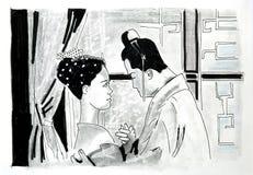 Man en Vrouw Stock Afbeelding