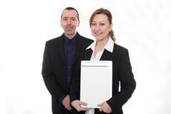 Man en vrouw in beroepsleven Stock Foto's