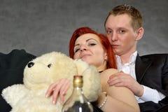 Man en Vrouw bij studio Royalty-vrije Stock Foto's