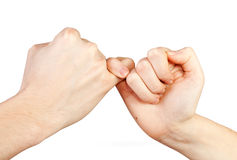 Het gebaar van handen. stock afbeeldingen