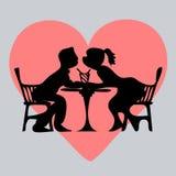 Man en vrouw die op het punt staan te kussen Royalty-vrije Stock Fotografie