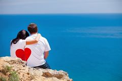 Man en vrouw in liefde Stock Foto