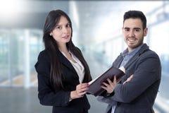 Man en vrouw van zaken Stock Afbeelding