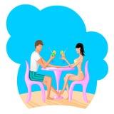 Man en vrouwen die een coctail drinken Royalty-vrije Stock Foto