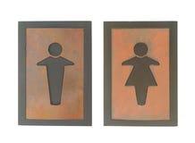 Man en Vrouwen houten uitstekend teken Royalty-vrije Stock Afbeelding