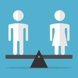 Man en vrouwenevenwicht stock illustratie