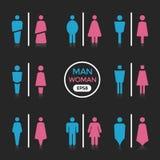 Man en Vrouwenkleurenteken stock illustratie