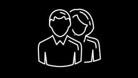 Man en vrouwenlijnpictogram op Alpha Channel stock illustratie