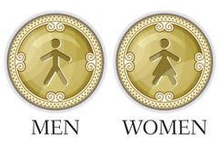 Man en vrouwentoiletteken vector illustratie