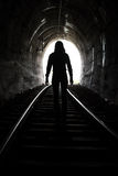 Man At End of Tunnel Stock Image