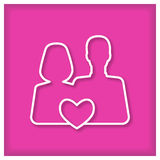 Man end woman in love. Icon Royalty Free Stock Photos