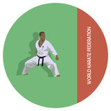 The man is engaged in karate. Stock Images