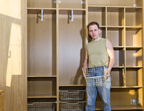 The man is engaged  repair and furniture assembl Royalty Free Stock Image