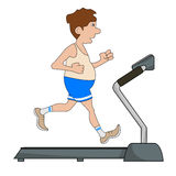 The man is engaged on a treadmill Royalty Free Stock Images