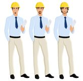 Man engineer portrait set Royalty Free Stock Image
