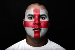 Man with England flag Royalty Free Stock Image