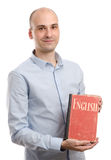 Man with English Dictionary Book Royalty Free Stock Photos
