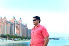 Man enjoy at Atlantis hotel Stock Photo