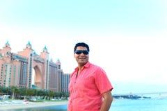 Man enjoy at Atlantis hotel Stock Images