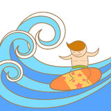 Man enjoy his surfing Royalty Free Stock Images