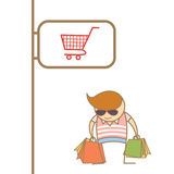 Man enjoy shopping Royalty Free Stock Images