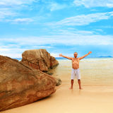 Man enjoy sun Royalty Free Stock Photos