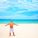 Man enjoy sun Royalty Free Stock Photography
