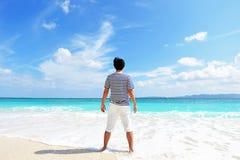 Man enjoy the sun. Stock Photography