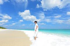 Man enjoy the sun. Royalty Free Stock Image