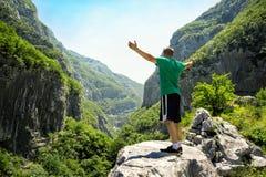 Man enjoying in beautiful nature Royalty Free Stock Photography
