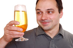 Man enjoying beer Royalty Free Stock Photos