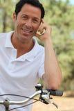 Man enjoying bike ride Royalty Free Stock Images