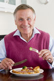 Man Enjoying Healthy meal, mealtime Stock Images