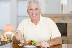 Man Enjoying Healthy meal, mealtime Stock Photos