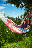 Man enjoying his hammock Stock Photo
