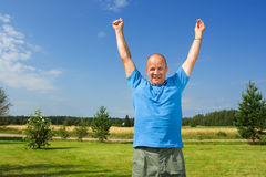 Man enjoying life Stock Image