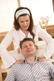 Man enjoying massage Royalty Free Stock Photography