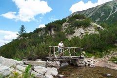 Man Enjoying Mountain Stock Image